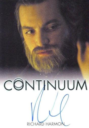 Continuum Seasons 1 & 2 Richard Harmon as Julian Randol Autograph Card Front