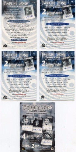 Twilight Zone Series 1-3 Promo Card Lot 5 Cards   - TvMovieCards.com
