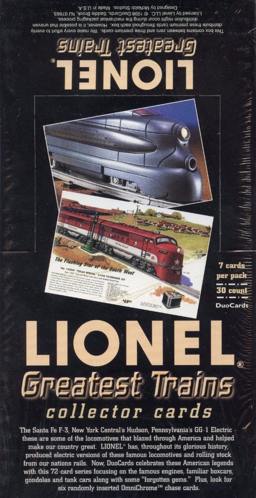 Lionel Greatest Trains Card Box   - TvMovieCards.com