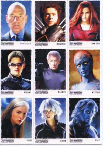 X-Men: The Last Stand Movie Art & Images of the X-Men Chase Card Set 9 Cards   - TvMovieCards.com