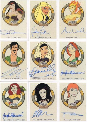 Xena & Hercules Animated Adventures Autograph Card Lot 24 Cards Front1