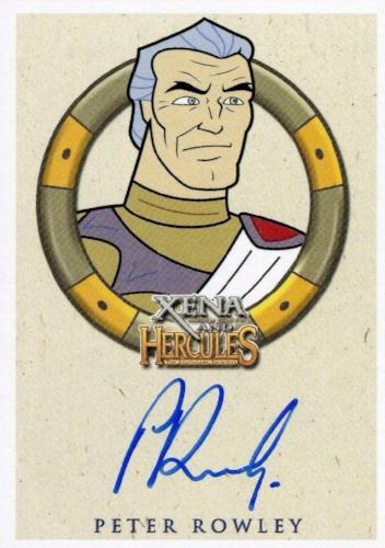 Xena & Hercules Animated Adventures Peter Rowley Zeus Autograph Card Front