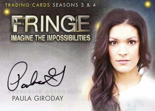 Fringe Seasons 3 & 4  Paula Giroday Autograph Card A16   - TvMovieCards.com