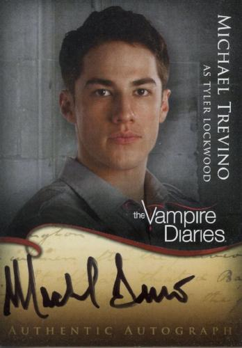 Vampire Diaries Season One Michael Trevino as Tyler Lockwood Autograph Card A8   - TvMovieCards.com
