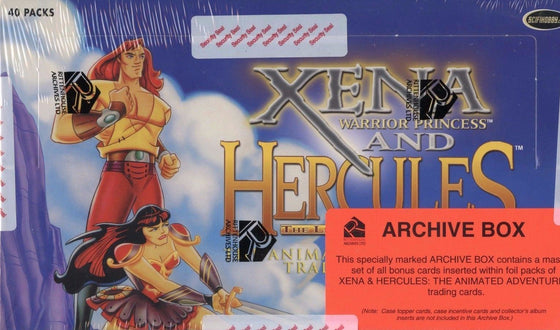 Xena & Hercules Animated Adventures Archive Card Box