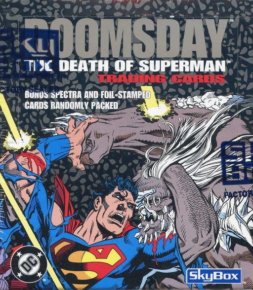 Superman Doomsday The Death of Superman Trading Card Box DC Comics 1992   - TvMovieCards.com