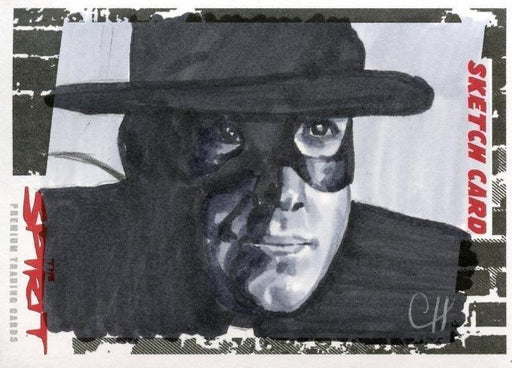 Spirit The Spirit Sketch Card by Chris Henderson SK-8   - TvMovieCards.com