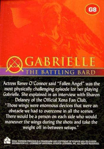 Xena Seasons 4 and 5 Gabrielle The Battling Bard Chase Card G8   - TvMovieCards.com