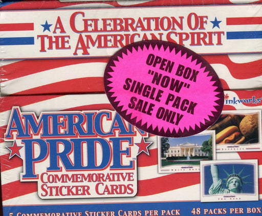 American Pride Sticker Trading Card Retail Box 48 Packs 2001   - TvMovieCards.com