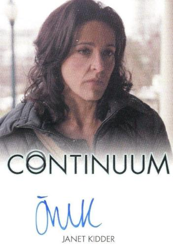 Continuum Seasons 1 & 2 Janet Kidder as Ann Sadler Autograph Card Front