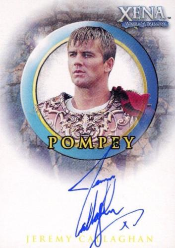 Xena Beauty and Brawn Jeremy Callaghan as Pompey Autograph Card A25   - TvMovieCards.com