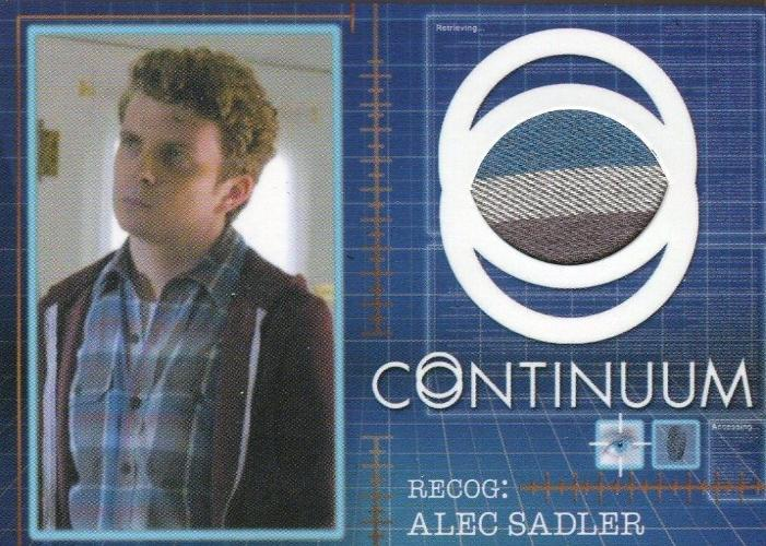 Continuum Seasons 1 & 2 Alec Sadler Costume Card CC3 #103/125 Front