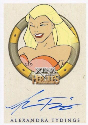 Xena & Hercules Animated Adventures Alexandra Tydings Aphrodite Autograph Card Front