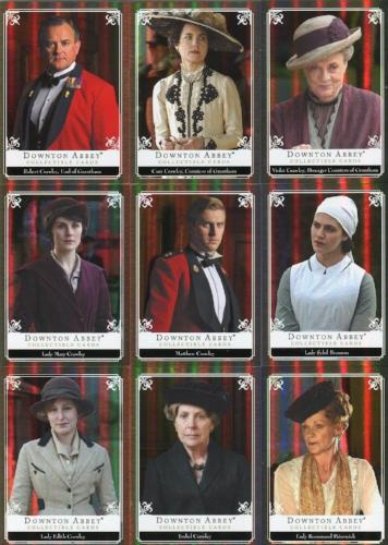 Downton Abbey Seasons 1 & 2 Upstairs Chase Card Set 12 Cards   - TvMovieCards.com