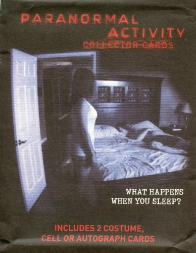 Paranormal Activity Movie Card Pack Front