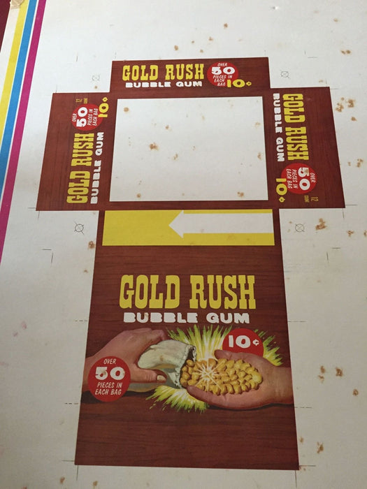 Gold Rush Vintage Card Box, Printing Plate and Cardboard Sheet   - TvMovieCards.com