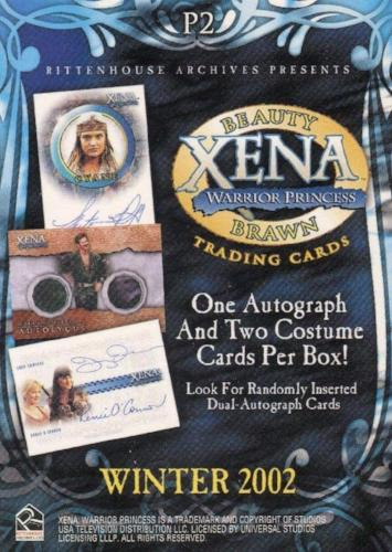 Xena Beauty and Brawn Promo Card P2   - TvMovieCards.com