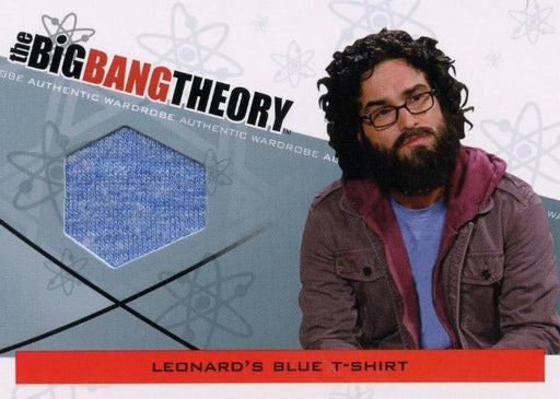 Big Bang Theory Seasons 3 & 4 Leonard's Blue T-Shirt Wardrobe Costume Card M-09   - TvMovieCards.com