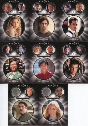 Heroes Archives Heroes Generations Chase Card Set 8 Cards   - TvMovieCards.com
