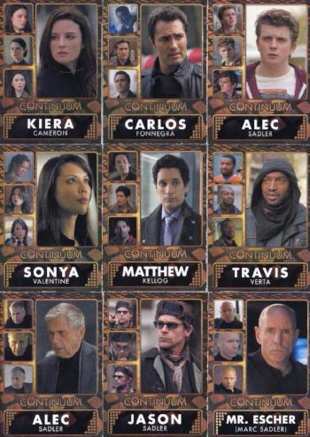 Continuum Seasons One and Two Character Chase Card Set Front1