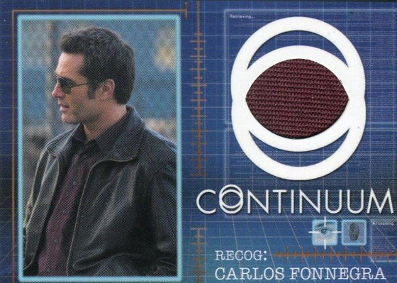 Continuum Seasons 1 & 2 Carlos Fonnegra Costume Card CC2 066/125 Front