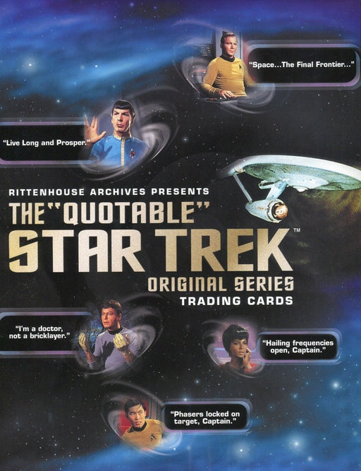 Star Trek The Original Series TOS Quotable Card Album   - TvMovieCards.com