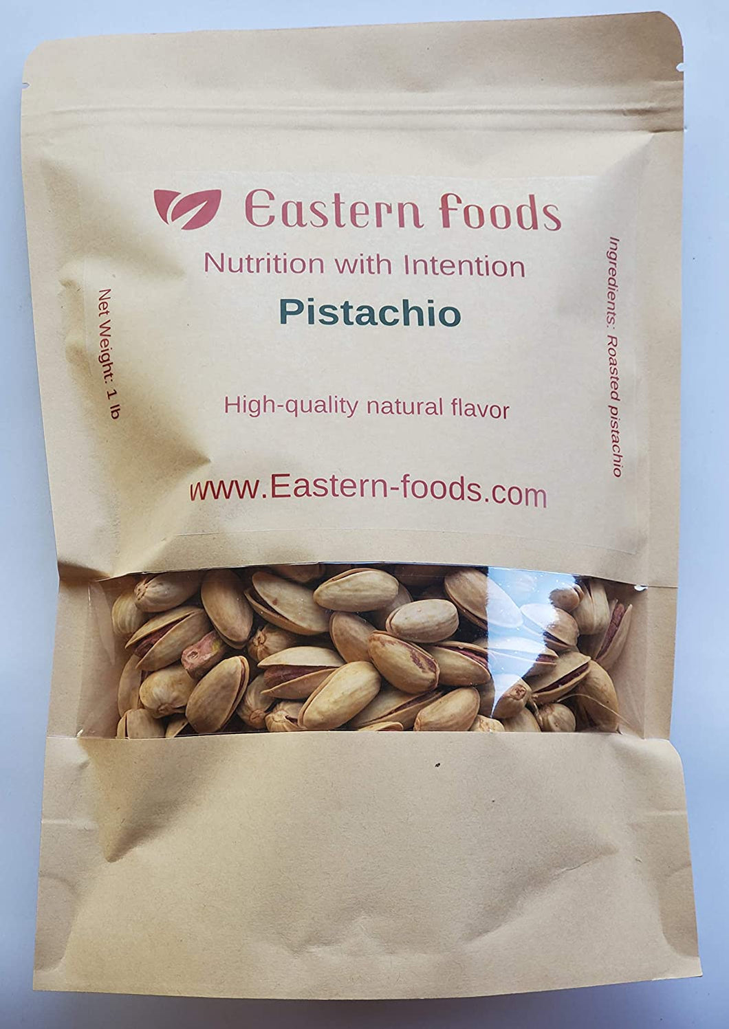 Eastern Foods Pistachio Roasted, 1 lb - High Quality Roasted Pistachio