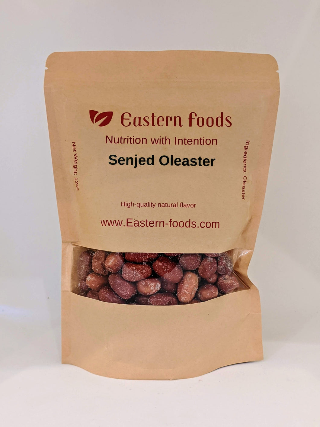 Eastern Foods Senjed Oleaster, 12 oz. Pshat, a.k.a Senjed, Dried Oleaster & Russian Olives