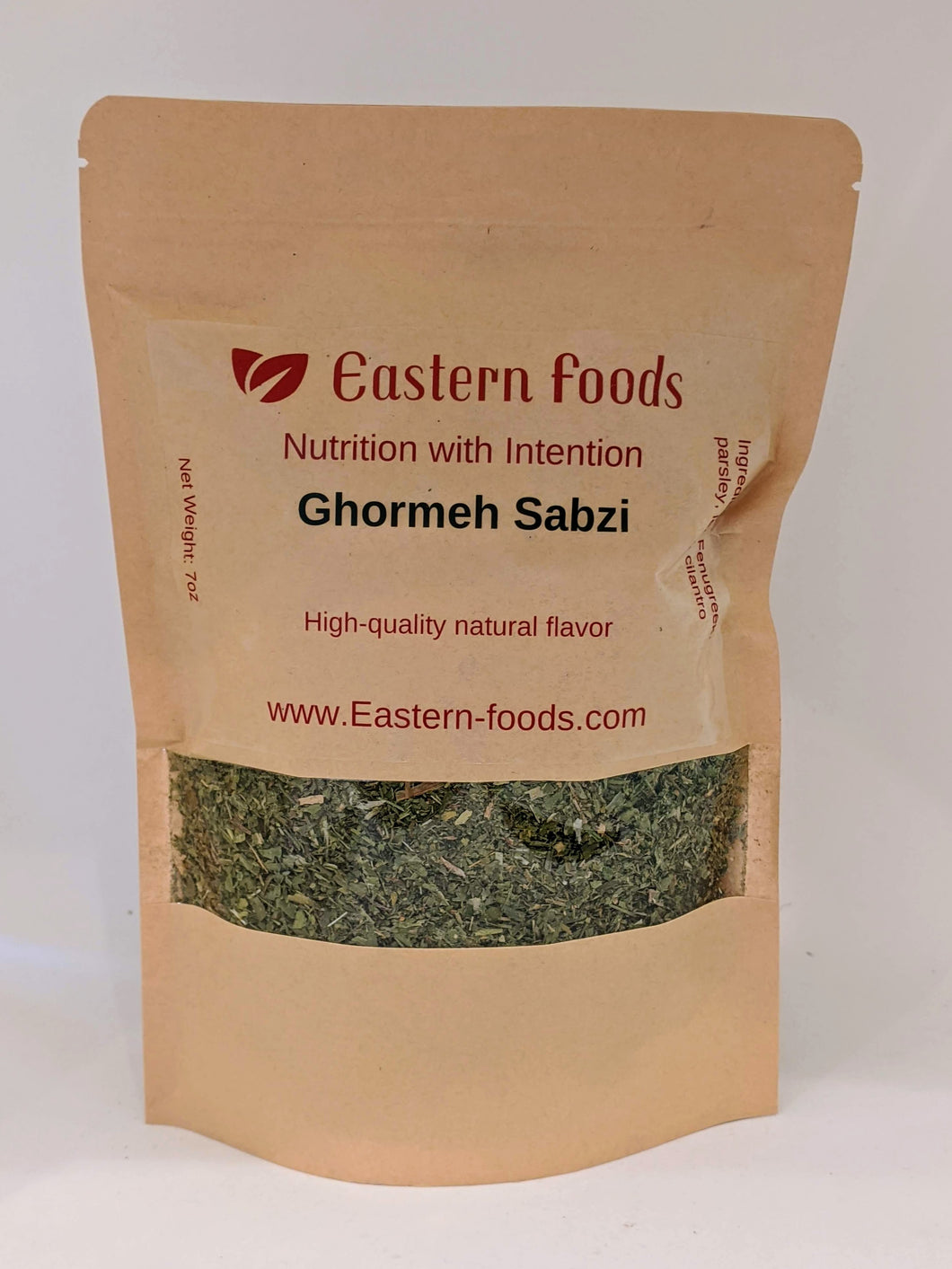 Eastern Foods Ghormeh Sabzi Mixed Herbs, 5 oz -Ingredients: Parsley, Leek and Fenugreek