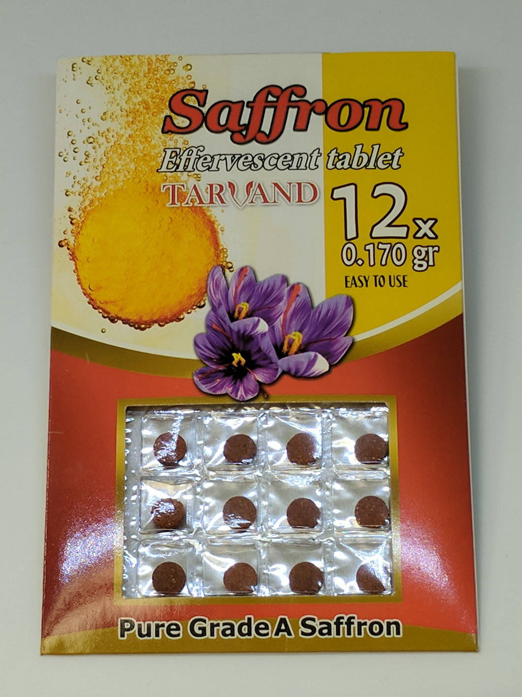 Saffron Effervescent Tablet, 12/Pack