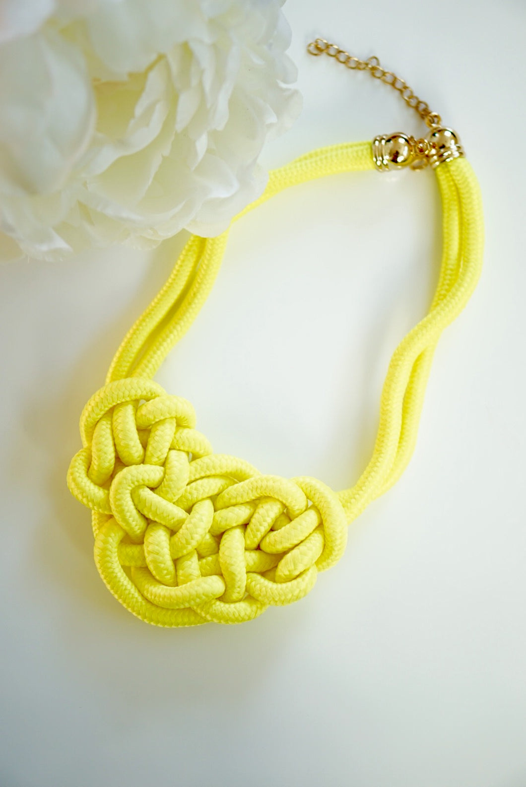Rope Necklace Lime