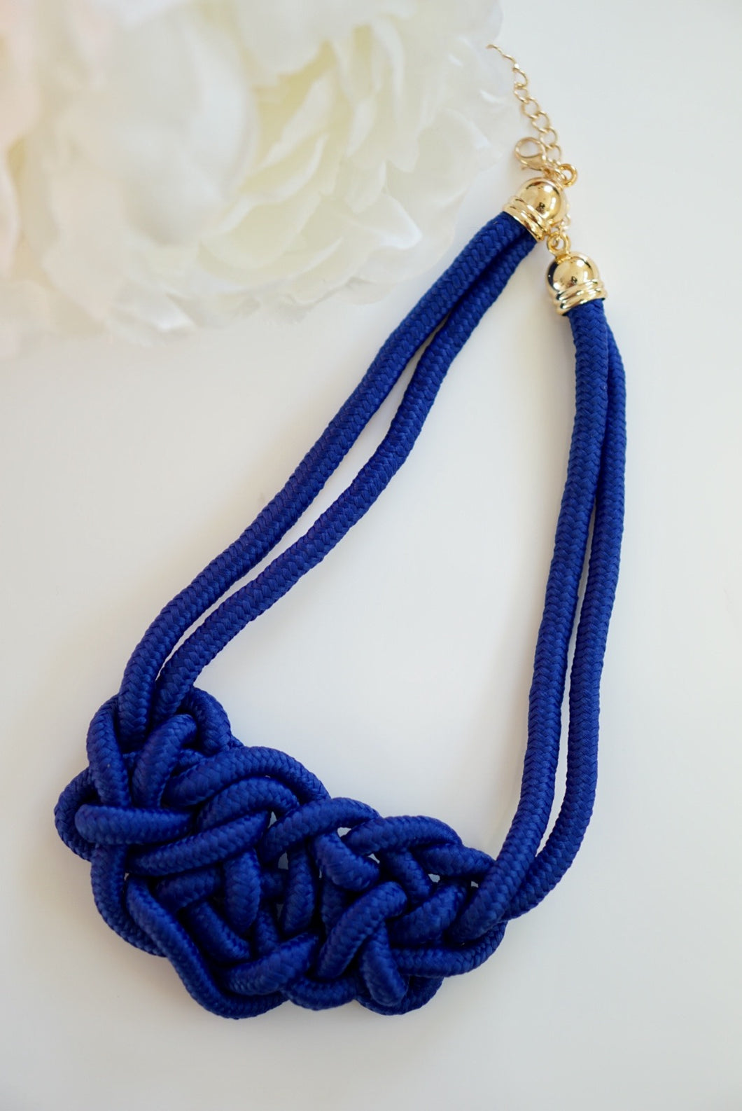 Rope Necklace Blue