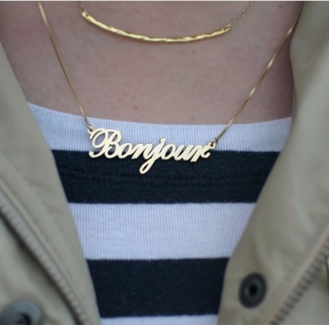 Italic Name Necklace