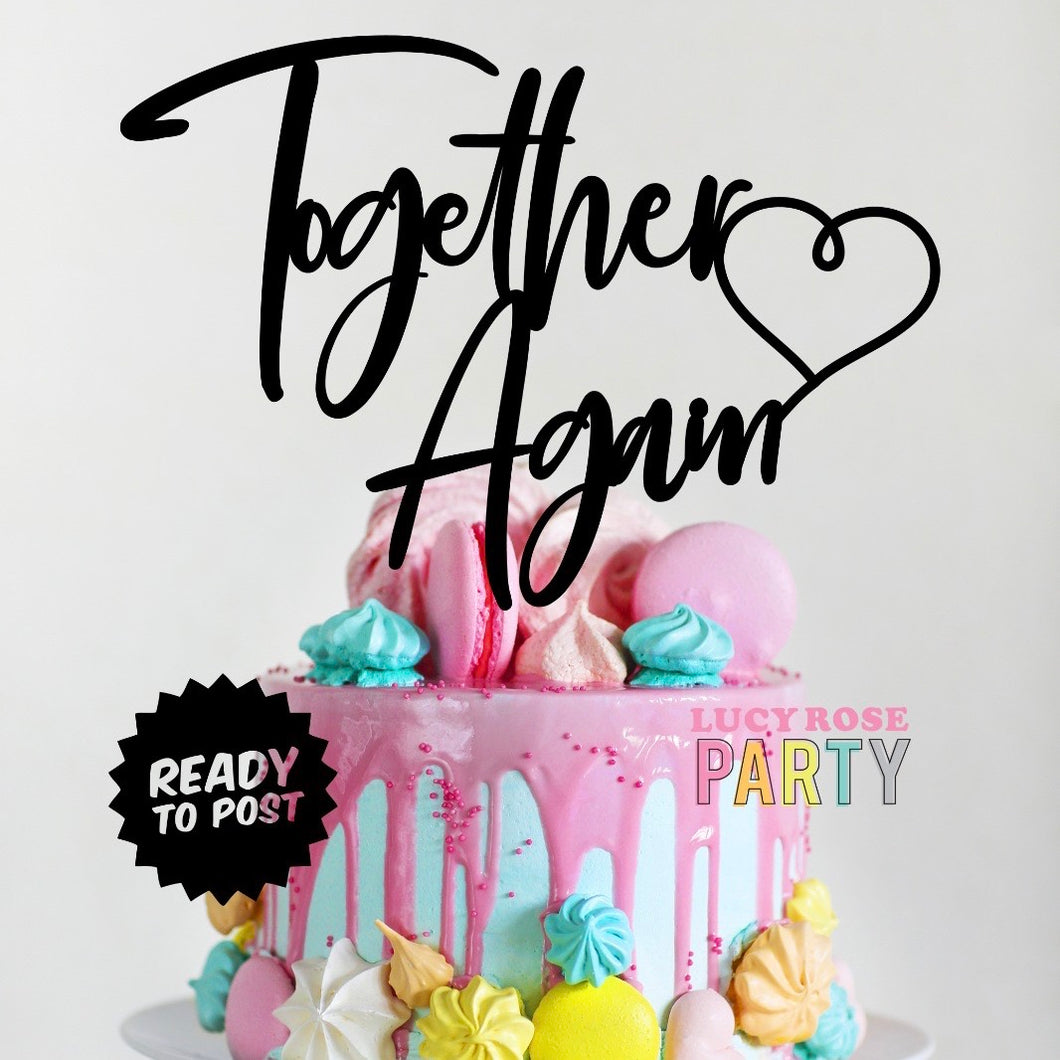 Together Again Lockdown Cake Topper