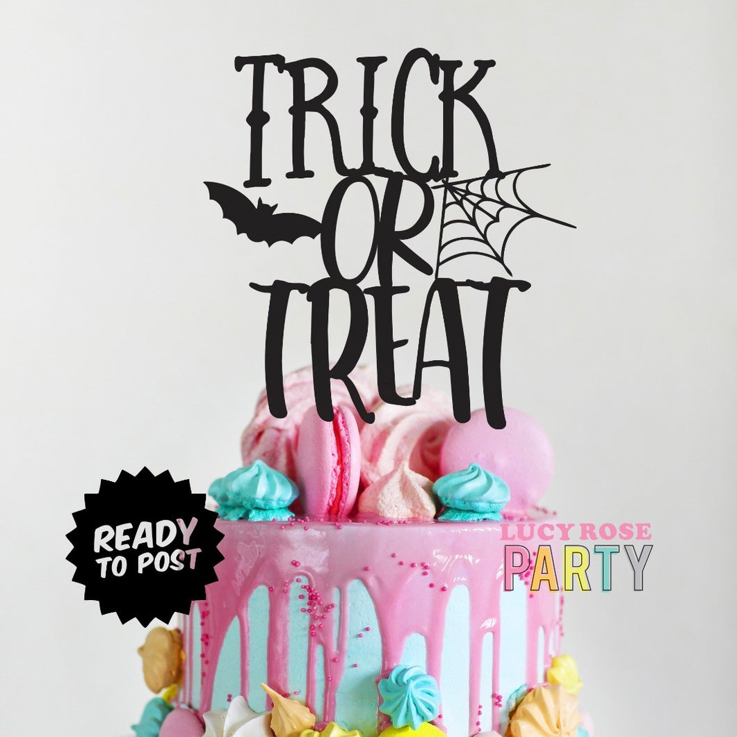 Trick Or Treat Cake Topper