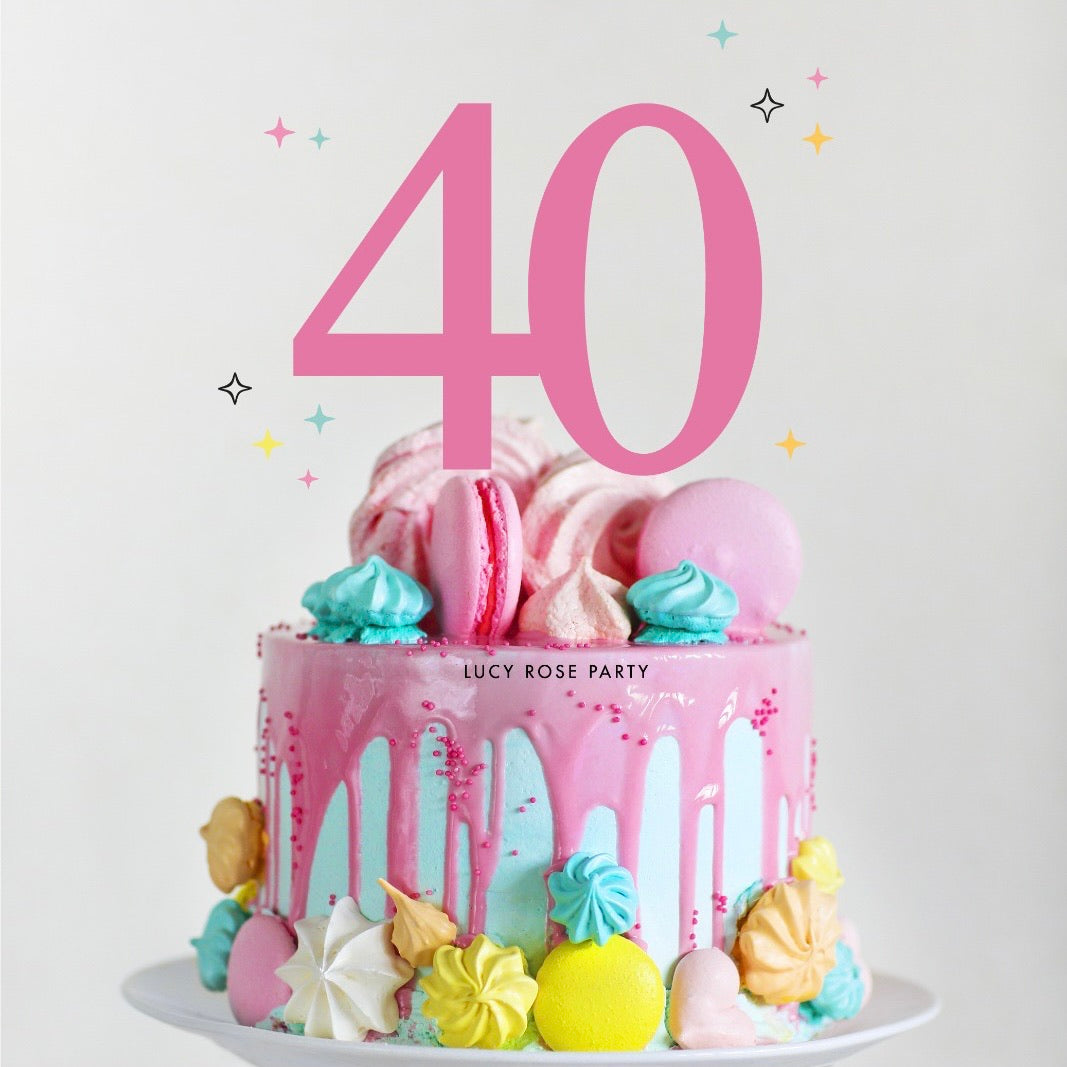 Age Cake Topper (Number)