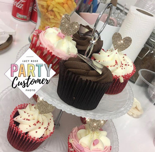 Love Heart Cup Cake Toppers