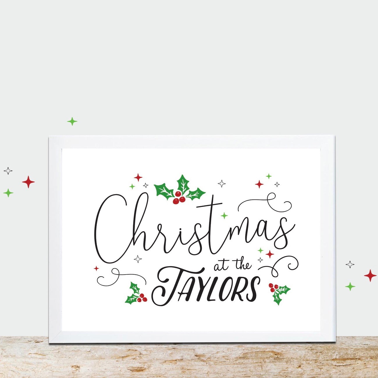 PDF PRINTABLE Personalised Christmas Family Print