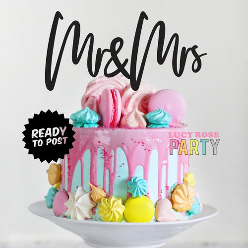 Mr and Mrs Cake Topper (Version 2)