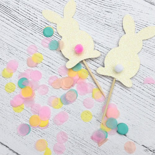 Easter Bunny Cup Cake Toppers x 10