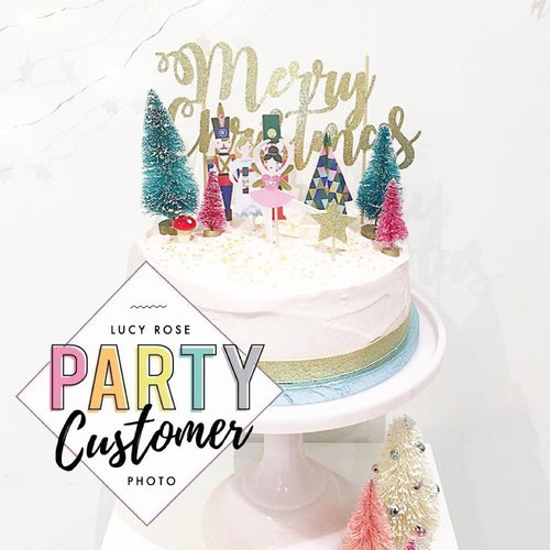 Merry Christmas Cake Topper Style 1