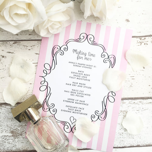 Personalised Pamper Night Print