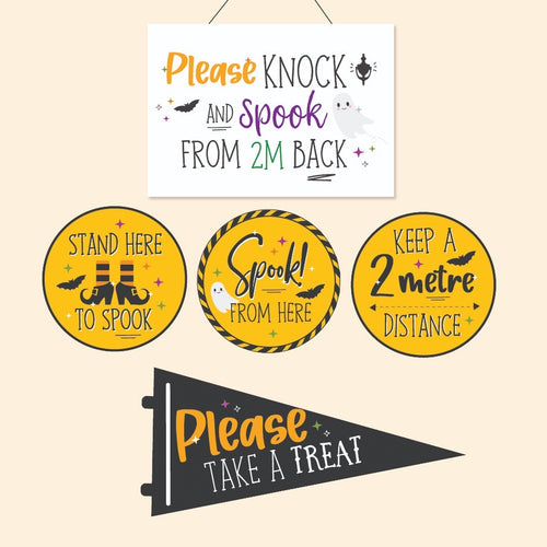 Print at Home | PDF Printable | Trick or Treat 2020 | Halloween Pack