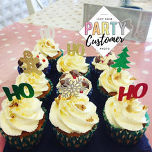 Christmas Cup Cake Toppers / Red & Green Theme