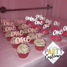 Age One Cup Cake Toppers