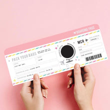 SCRATCH PANEL | Personalised Customised Boarding Pass Ticket for Birthday Anniversary