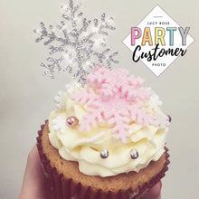 Snowflake Cup Cake Toppers
