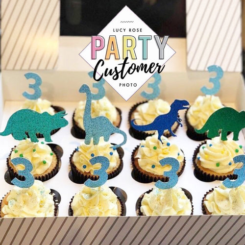 Dinosaur Cup Cake Toppers