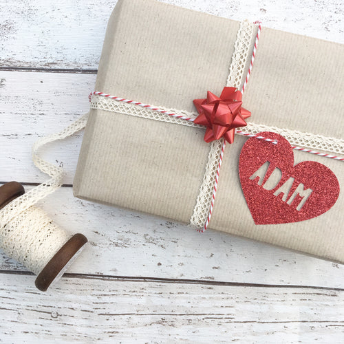 Personalised Love Heart Gift Tags