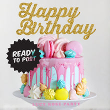 Happy Birthday Cake Topper Bold Font (Not Personalised)